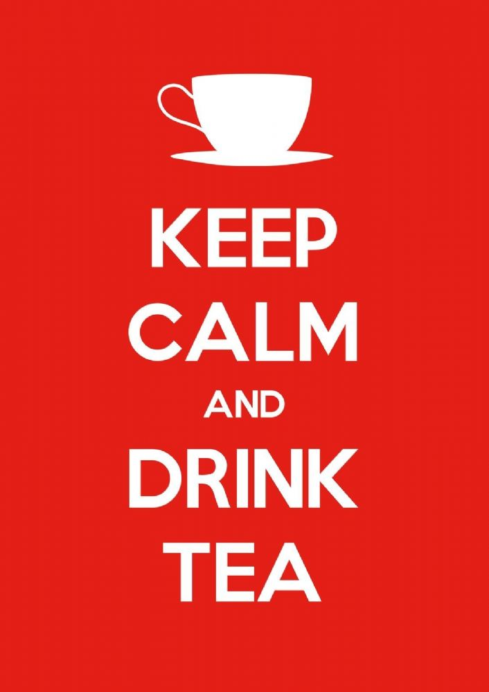 Keep Calm  Drink Tea  Choose your size  Stretched Canvas or Print  NEW